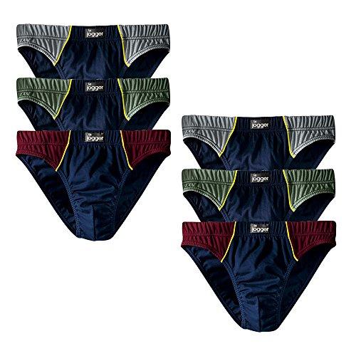 Le Jogger Herren Slips, 6er Pack, Unterhosen, Schlüpfer, Baumwolle (6, farb-set) (Pack 6 Slips)