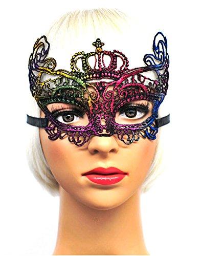 Inception pro infinite ( mod 1 ) maschera veneziana - multicolor - macramè - carnevale - halloween - idea regalo - uomo - donna - unisex