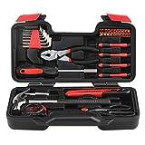 INTEY Werkzeugkoffer Werkzeugsätze 39-teilige Profil Haushaltswerkzeugsätze Tool Kit mit Kombizange