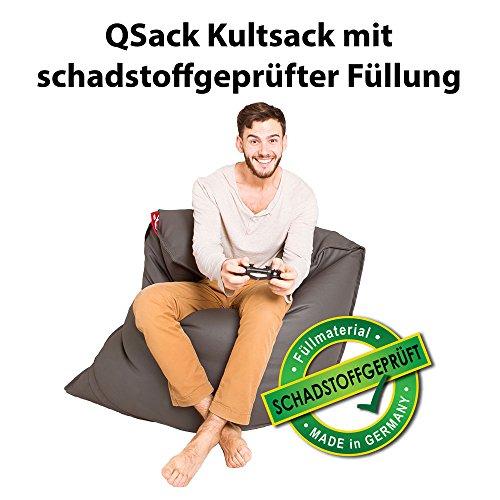 QSack Kultsack mit Toxproof Mikroperlen Sitzsack Füllung Schadstoffgeprüft mit Sitzsack...