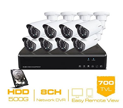 Gowe 8CH CCTV System 8Kanal HDMI DVR 500GB HDD 8700TVL IR Sicherheit Kamera Home Security System Überwachung Kits -