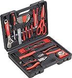 Meister Haushaltskoffer 44-teilig - Werkzeug-Set - Werkzeug für den täglichen Gebrauch/Werkzeugkoffer befüllt/Werkzeugset/Werkzeugbox komplett mit Werkzeug/Werkzeugsortiment/8971430