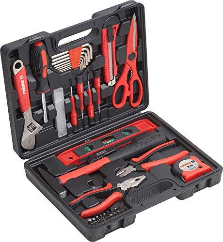 Meister Haushaltskoffer 44-teilig - Werkzeug-Set - Werkzeug für den täglichen Gebrauch / Werkzeugkoffer befüllt / Werkzeugset / Werkzeugbox komplett mit Werkzeug / Werkzeugsortiment / 8971430