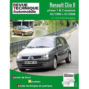 Revue Technique 116.1 Renault Clio 2 Phase 1 et 2 Essence