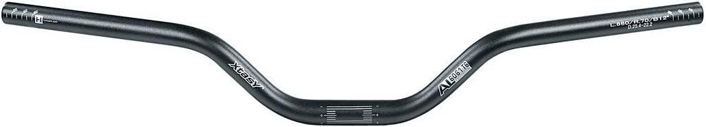 Ergotec Guidon Cintres Xtasy Riser-BAR ALU 700 mm 25,4 mm Noir