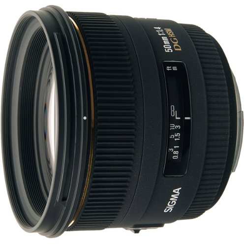 Sigma 50mm 1,4 EX DG HSM Objektiv (77 mm Filtergewinde) für Nikon - Sigma-objektiv Mm 50