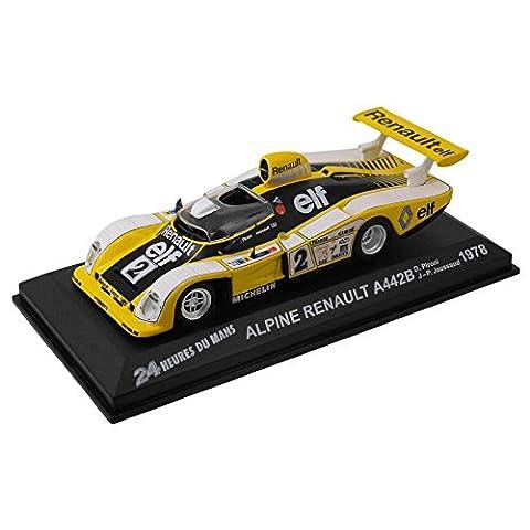 Modellauto Alpine Renault A442B - 24 Heures du Mans Sieger 1978 (1:43) - gelb / weiß