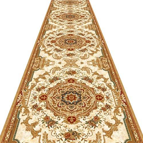SESO UK- Europäische Halle Teppich-Läufer für Flur Treppen, klassisches kommerzielles Luxushotel Teppich Runner (Size : 80×400cm)