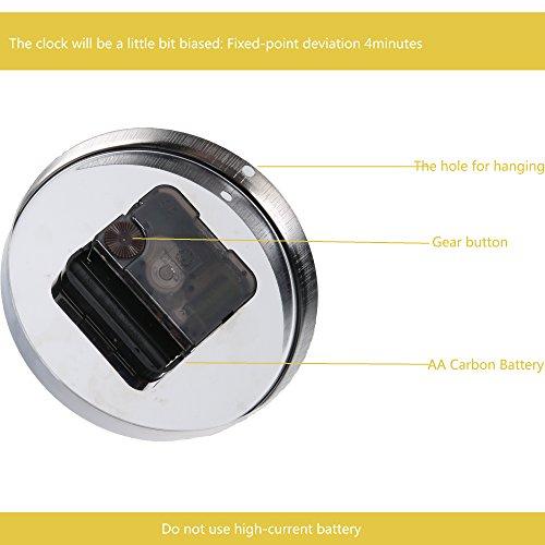 _ Horleora Orologio Da Parete Moderno DIY Adesivo 3D Stickers Numeri Romani Orologio Da Parete Rimovibile, Muto Frameless Orologio (digitale) miglior prezzo