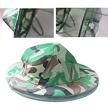 Katech Camouflage Beekeeping Hat Beekeeper Anti-mosquito Face Mask Outdoor Fishing and Camping Mosquito Netting Hat Protective Equipment 5