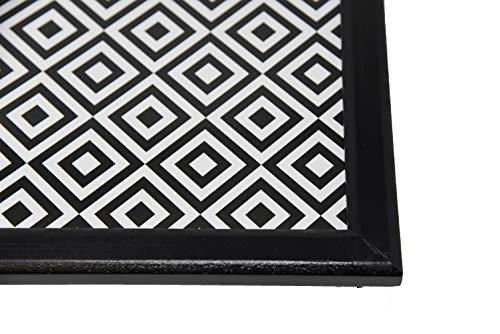 Emanhu Trading Knie-Tablett Laptop Tablet Kniekissen ESS-Tisch Vers. Variation Schwarz-Weiß