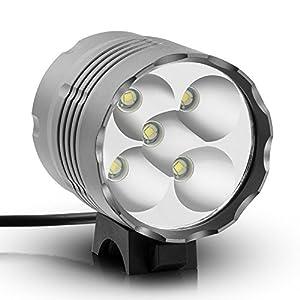 Faros de bicicleta, Jolliwin 9000 lúmenes 7x CREE XM-L T6 LED lámpara, a prueba de agua MTB Road Bike faros delanteros de luz con batería de 8.4V 13200mAh recargable, bicicletas de montaña, ect (1)