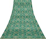 Svasti Stripe & Vektor Design Damast-Weinlese-Silk Sari