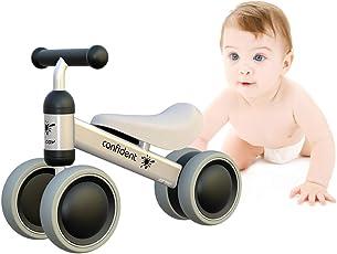 Baby Laufrad Kinder Spielzeug ab 1 Jahr Tüv Geprüft Kleinkind Dreiräder Erst Fahrrad für 10-24 Monate Weiß