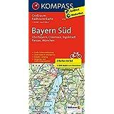 Bayern Süd - Oberbayern - Chiemsee - Ingolstadt - Passau - München: Großraum-Radtourenkarte 1:125000 (KOMPASS-Großraum-Radtourenkarte, Band 3712)