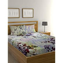 Raymond Home  Charming Glory Collection Flat Double Bedsheet, 274 x 274 cm, Multi-Colour, 003848-BF01