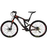 BEIOU Carbon Dual Suspension Mountain Bicycles All Terrain 27,5 Zoll MTB 650B Bike SHIMANO DEORE 10 Geschwindigkeit 12.7kg T700 Rahmen Matte 3K CB22 Vergleich