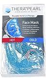 Therapearl maschera per il viso riutilizzabile, terapia calda o fredda con perline di gel, flessibile, non tossica, per acne, gonfiore di viso e occhi, rilassamento, antistress