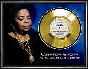 Cesaria Evora Carnaval De Sao Vicente Framed Disque d'or Gold Display