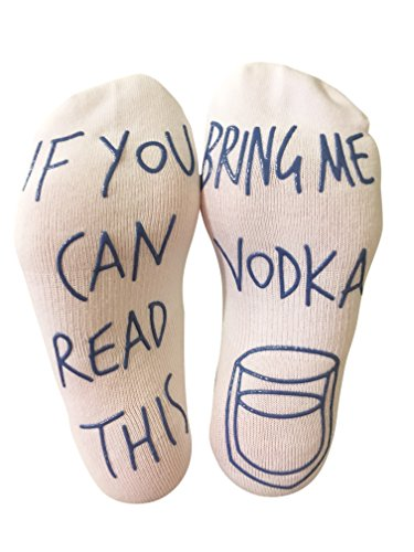 Price comparison product image 'If You Can Read This Bring Me Vodka' Funny Ankle Socks - Gift For Vodka Lovers