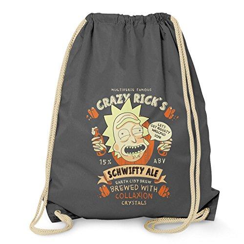 NERDO - Crazy Rick's Schwifty Ale - Turnbeutel, grau (Bücher Smith Tex)