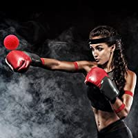 Boxing Reflex Ball, Pro Reflex Boxing Trainer Boxing Ball on String, Boxing Reflex Ball Training Hand Eye Coordination with Headband for MMA Training, Boxing Fight Ball Reflex Kit for Adult & Kids