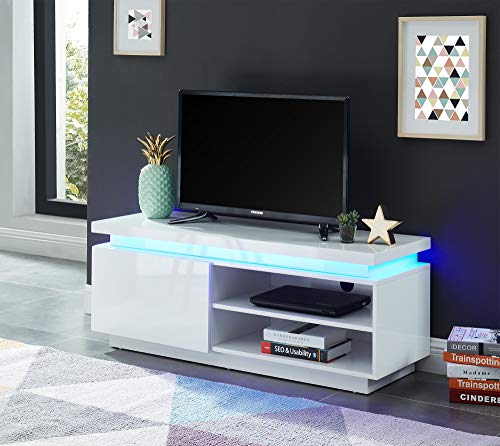 BAITA Cosmos Meuble TV à LED, laqué, 120cm