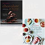 Chocolate at Home and Afternoon Tea at Home 2 Books Bundle Collection - Step-by-step recipes from a master chocolatier, Deliciously indulgent recipes for sandwiches, savouries, scones, cakes and other fancies