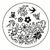 JUSTFOX - Nail Art Vogel Eule Blumen Plates Template Fashion Stempel