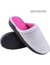 SlumberzzZ - Zapatillas de estar por casa de Material Sintético para mujer Rojo Size: 5-6 UK rU9RAK
