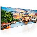 murando - Bilder Berlin 135x45 cm - Vlies Leinwandbild - 1 TLG - Kunstdruck - modern - Wandbilder XXL - Wanddekoration - Design - Wand Bild - Stadt Berlin Museumsinsel d-B-0163-b-a
