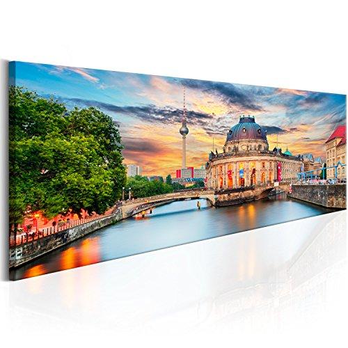 murando - Bilder Berlin 135x45 cm - Leinwandbilder - Fertig Aufgespannt - Vlies Leinwand - 1 Teilig - Wandbilder XXL - Kunstdrucke - Wandbild - Stadt Berlin Museumsinsel d-B-0163-b-a