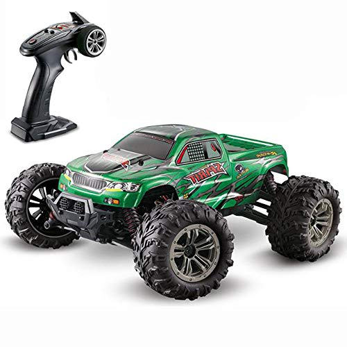 WXIAORONG Hochgeschwindigkeits-Remote-Control Car, 1:16 RC Drift Off-Road Desert Big-Foot Model Electric Four-Channel Charging Remote Control Car 2.4G Kinder-Erwachsenen-Spielzeug,Green