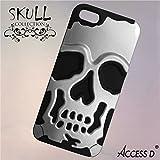 ACCESS D Coque tête de Mort Grise pour Apple iPhone 4 4s