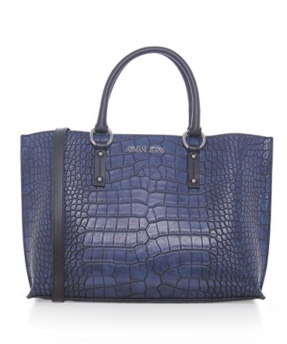 Armani Jeans Crocodile effet Shopper Bag Marine Marine
