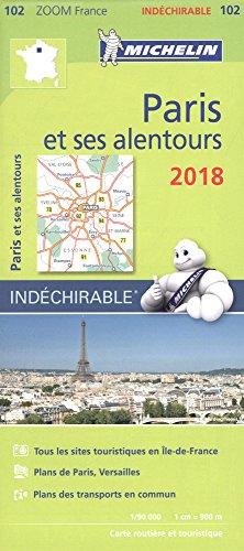 Carte Paris et ses alentours Michelin 2018