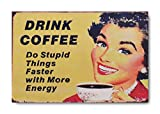 "Sketchfab ""Drink Coffee"" Wall Sign (Wooden, 30 cm x 20 cm)"