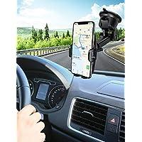 Mpow Support Téléphone Voiture[Nouveauté] pour Tableau de Bord Pare-Brise,2 Niveaux Aspiration, Réutilisable Support de Téléphone Support Voiture Téléphone GPS pour iPhone, Galaxy, HTC,LG, MP3 etc