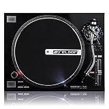 Reloop RP-7000 DJ-Plattenspieler mit sehr starkem High Torque-Direktantrieb, höhenverst. (VTA) Tonarm, pitchbar, silbermetallic