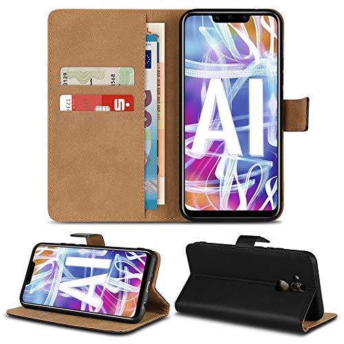 Handy Hülle Leder für Apple iPhone XS Max Xr X Huawei P20 Lite Pro/Mate 10 20 Lite Pro / P10 Lite Samsung Galaxy S9 Plus / S9 Note 9 Flip Cover Tasche Klapp Book, Smartphone:Huawei Mate 20 Lite