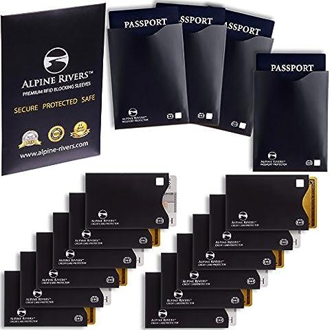 12manches de blocage RFID (10cartes de crédit et 2films protecteurs