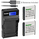 Kastar Camera Batteries (Pack Of 2) With SLIM LCD Charger For Sony NP-FE1 & Sony Cyber-shot DSC-T7 DSC-T7/B DSC-T7/S DSC-P2 DSC-P3 DSC-P5 DSC-P9 DSC-P7 Digital Cameras