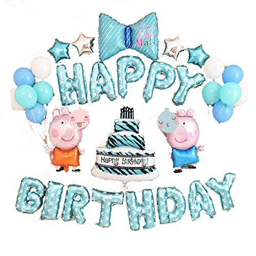 Set de decoraciones de globos, feliz cumpleaños, alfabeto de globos, cumpleaños feliz...