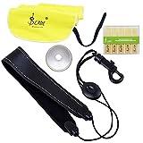 Lade® 4-en-1 Accessoire pour Saxophone Alto Saxo Kit Bracelet Tissu de Nettoyage Canne Aluminium Mute