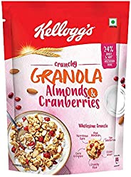 Kellogg's Crunchy Granola Almonds and Cranberries | Breakfast Cereals | Multigrain Flakes,