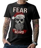 Santa Skull – Fear The Beard T-Shirt Weihnachtsmann Skull Bad X-Mas S-5XL