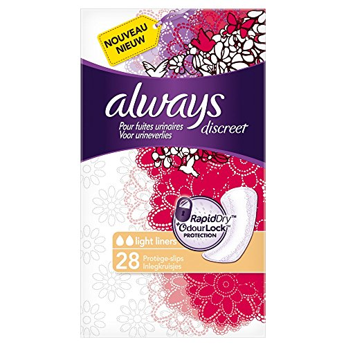Always Discreet Protège-slips pour Fuites Urinaires et Incontinence x28 -...