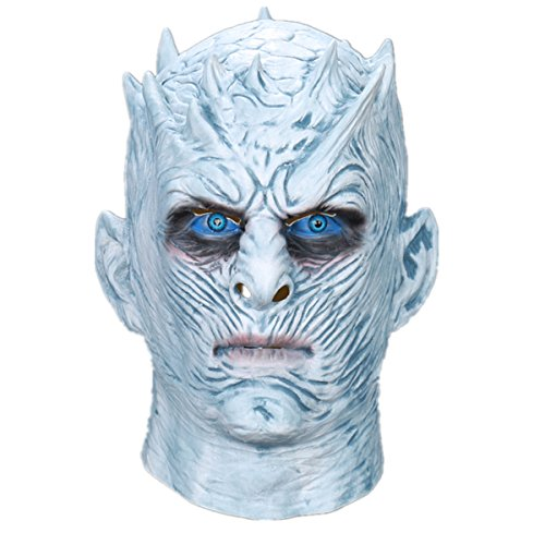 Yacn máscara de halloween de los hombres, 2017 máscara de halloween espeluznante de halloween para adulto-juego de la máscara de los tronos | Partido de la película de Halloween Caminantes blancos Máscara y noche Rey máscara traje de la máscara de longx cosplay (kind-night)