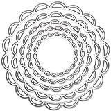 5Metal troqueles de corte de troquel de Metal con círculos en plantillas de corte scrapbooking tarjeta de papel Decoración para el hogar DIY álbum