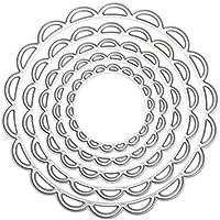 Amazingdeal365 - 5 troqueles o círculos de metal para álbum, manualidades, scrapbooking y decoración del hogar